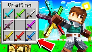 Minecraft, but you can COMBINE EVERY SWORD!