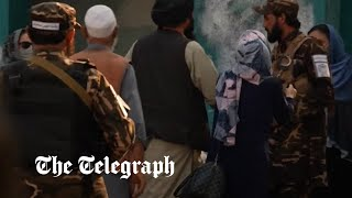 video: Demo turns violent as Taliban fires shots to break up womens' protest