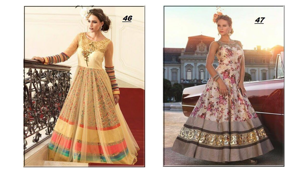 Top 5 Most Beautiful Indian Gowns Dress Collection For Girls ...