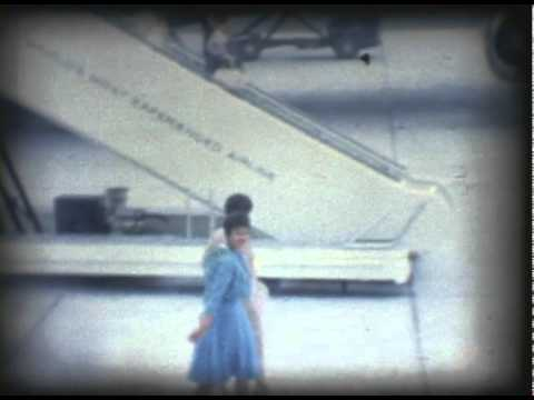 1962 Mickey leaves for Hawaii: Family Footage