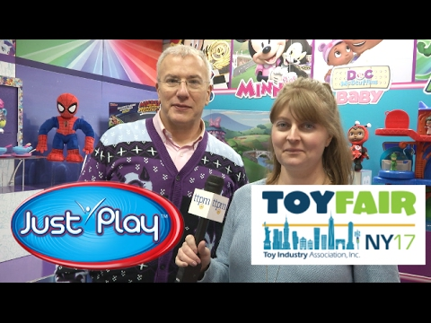 Toy Fair 2017: Just Play's Doc McStuffins, Mickey & Minnie, PJ Masks, Spider-Man. New Reveals!