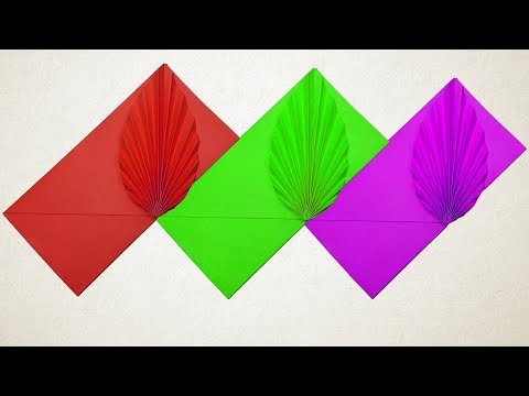 How to make a Color Paper With Origami ENVELOPE - DIY Origami Envelope easy tutorial