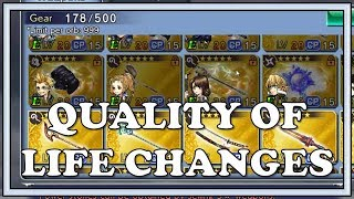 End of August Quality of Life Changes - Dissidia Final Fantasy Opera O