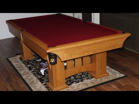 Pool table build part 1 youtube for How to build a billiard table