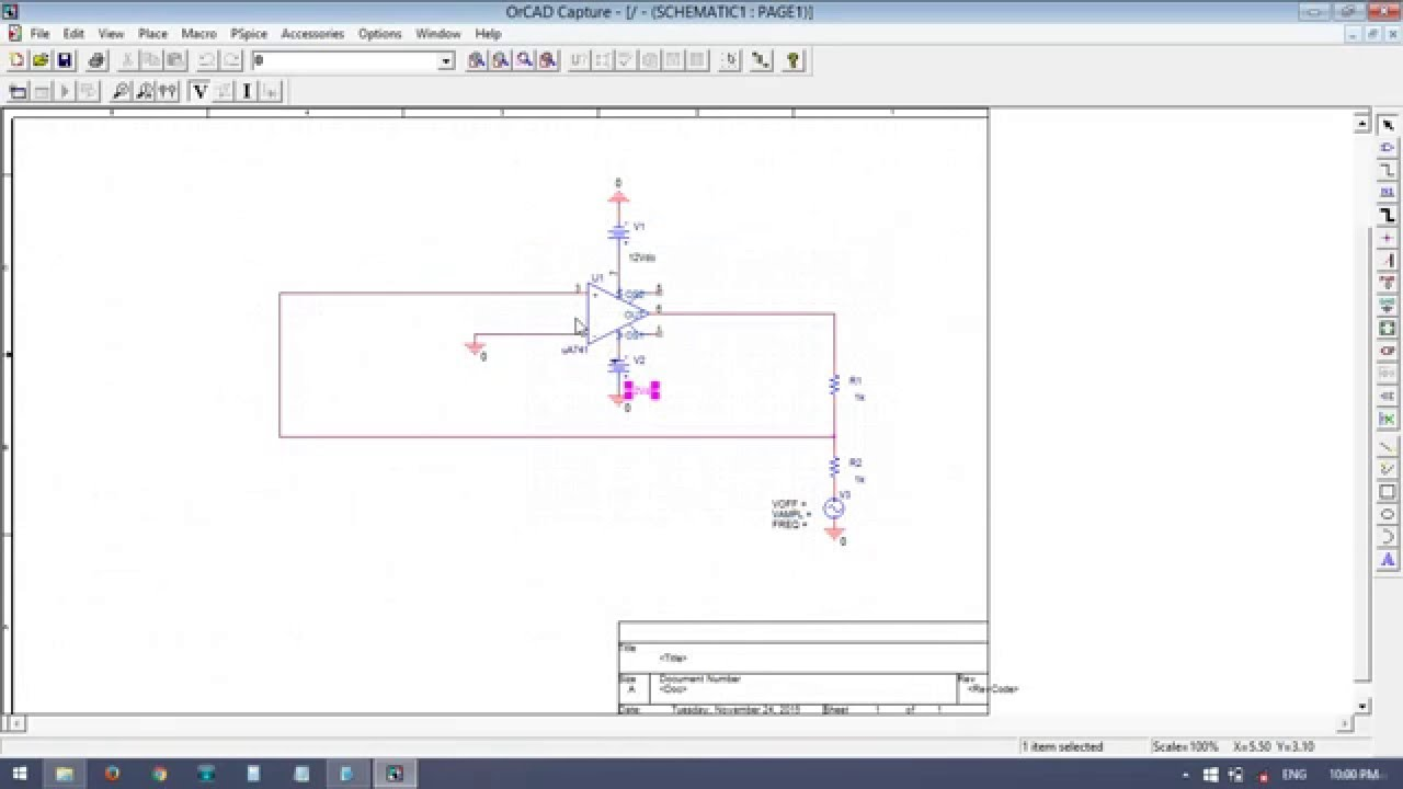 Non Inverting Schmitt Trigger With Input And Output Wave Forms By Circuits Simulation Package Vtu Students