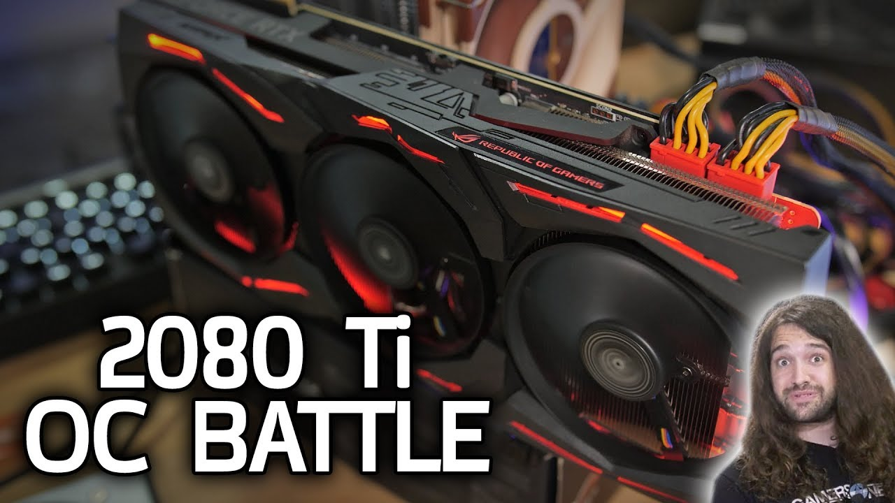 RTX 2080 Ti Overclocking Battle with GamersNexus!