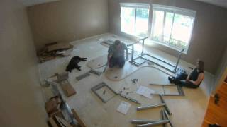 Ikea Galant Assembly - Time Lapse