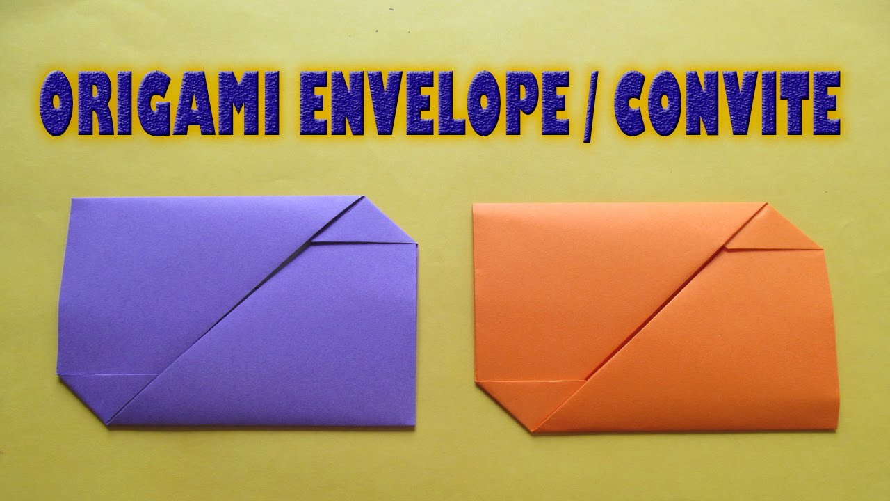 Origami Envelope Convite Youtube