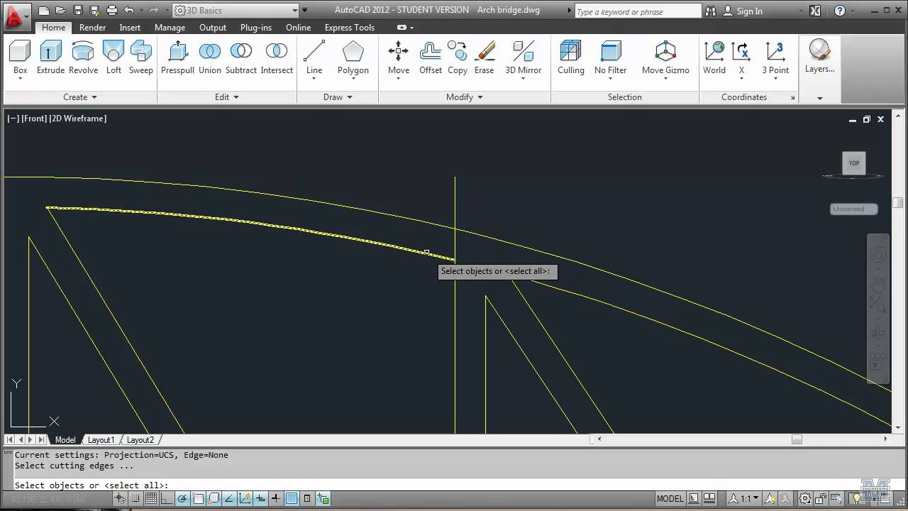 Autocad 18 Drawing An Arch Truss Bridge Part 1 Of 2