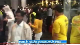 Hotel în flăcări de Revelion, în Dubai