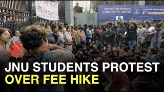 JNU protests: Students clash with police outside campus, extra force deployed