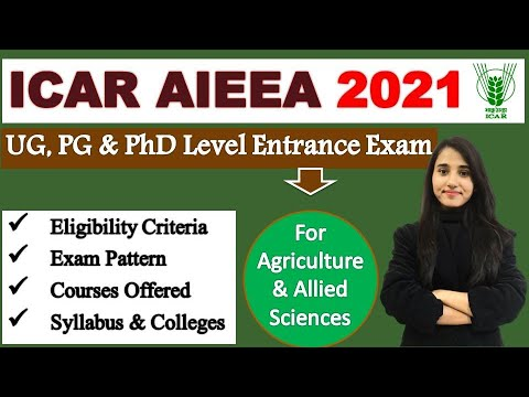 ICAR AIEEA Exam Detail, Eligibility, Courses, Exam Pattern, Syllabus, Colleges