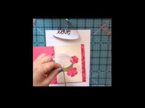 Видео урок открытки, надписью