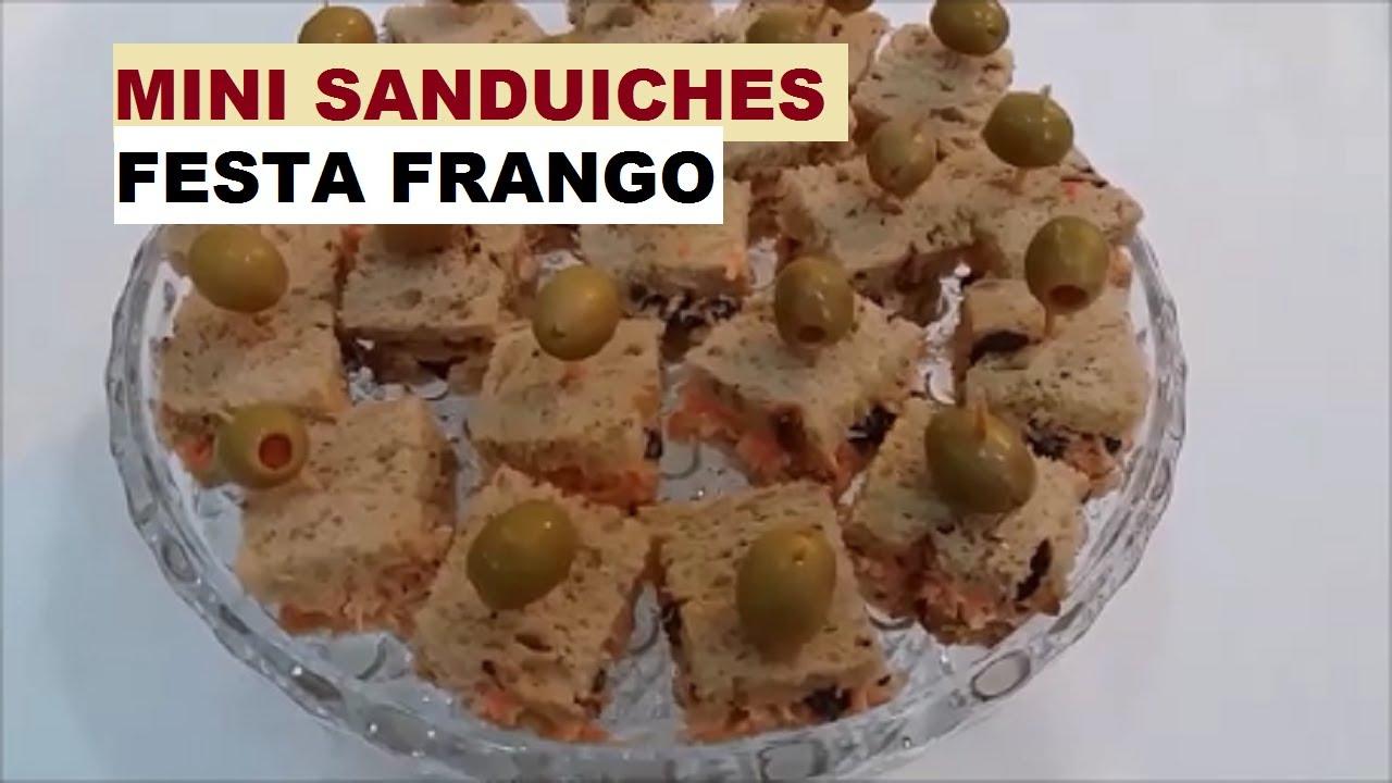Mini Sanduiches Festa Frangomaria Mafalda Youtube