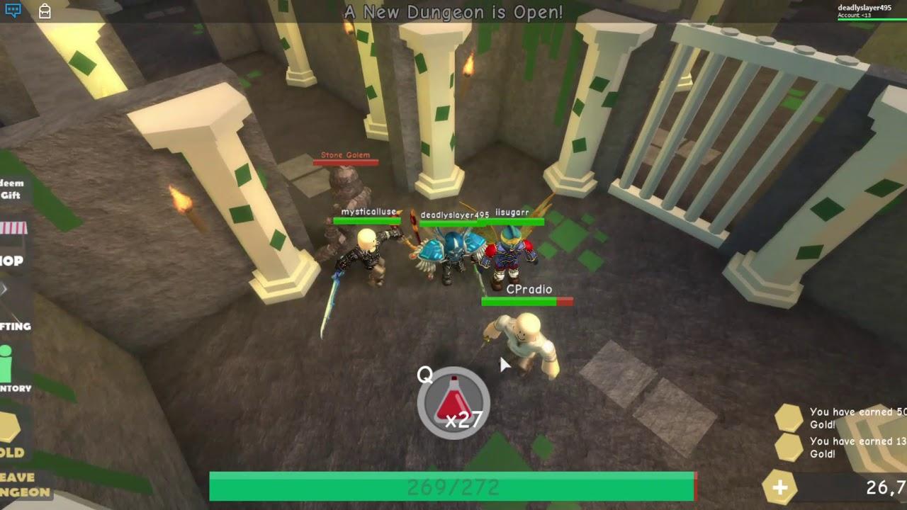 New Dungeon Raiding Game Roblox Dungeon Simulator Youtube