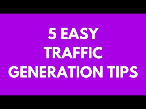 Blogging 101 - 5 Traffic Generation Tips for Bloggers (For Blogging Beginners)