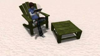 Lok's Adirondack Chair V3 - Texture Change, Tons Of Animations