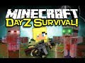 Minecraft DAYZ MOD Spotlight! - Fight The Zombie Hoards, & SURVIVE! (Minecraft Mod Showcase)