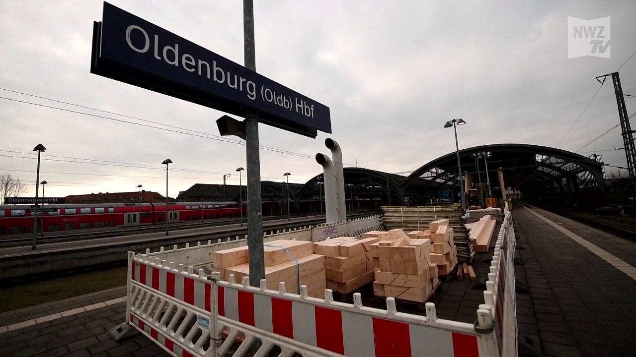 oldenburger hauptbahnhof beton holzkonstruktionen an gleis 7 und 8 youtube. Black Bedroom Furniture Sets. Home Design Ideas