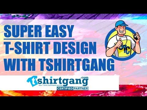 Super Easy T-Shirt Design With Tshirtgang T-Shirt Creator Tool