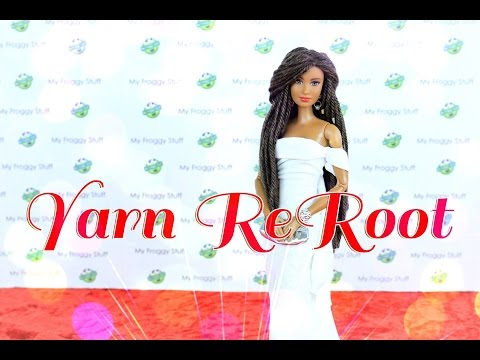 DIY - How to:  Reroot Doll Hair With Yarn - Handmade - Crafts - 4K