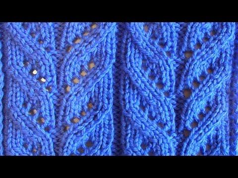 Схемы вязания ажурные косы спицами