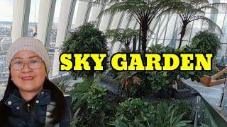 OVERLOOKING LONDON CITY FROM 43RD FLR OF SKY GARDEN