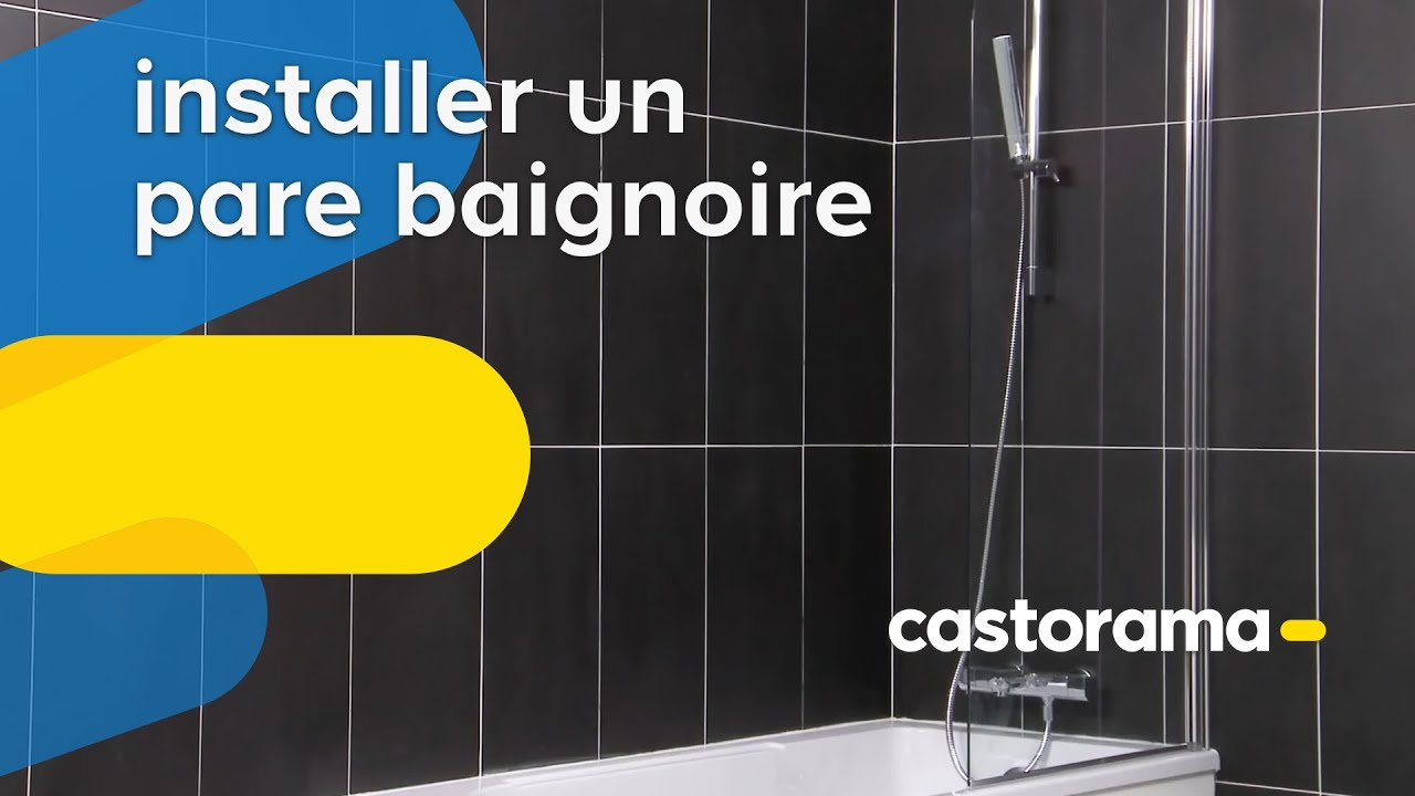 installer un pare baignoire castorama youtube. Black Bedroom Furniture Sets. Home Design Ideas