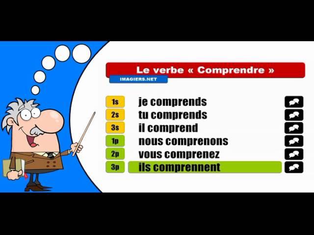 La Conjugaison Du Verbe Comprendre Indicatif Present Youtube