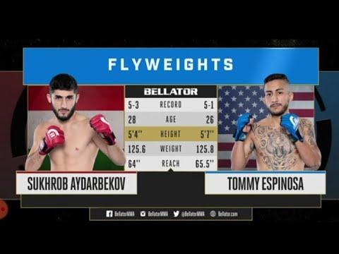Таджикский боец Сухроб Айдарбеков- suhrob aydarbekov vs Tommy Espinosa full fight bellator mma 2020