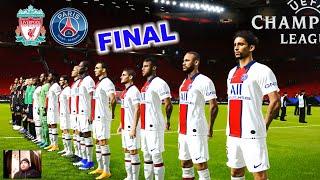 PES 2021 Final Champions League Neymar 2 Free Kick Goal Liverpool vs PSG Gameplay