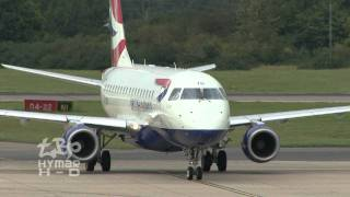 British Airways Embraer 170, UPS 767, Boeing737-200 classic, FlyHellas & more Stansted Airport
