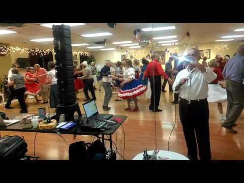 Square dance in Littleton, Colorado at Mountaineers with Tom Roper caller