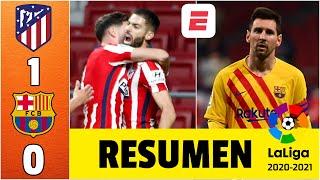 Atlético de Madrid 1-0 Barcelona. HISTÓRICO. Primer triunfo del Cholo Simeone al Barcelona | La Liga