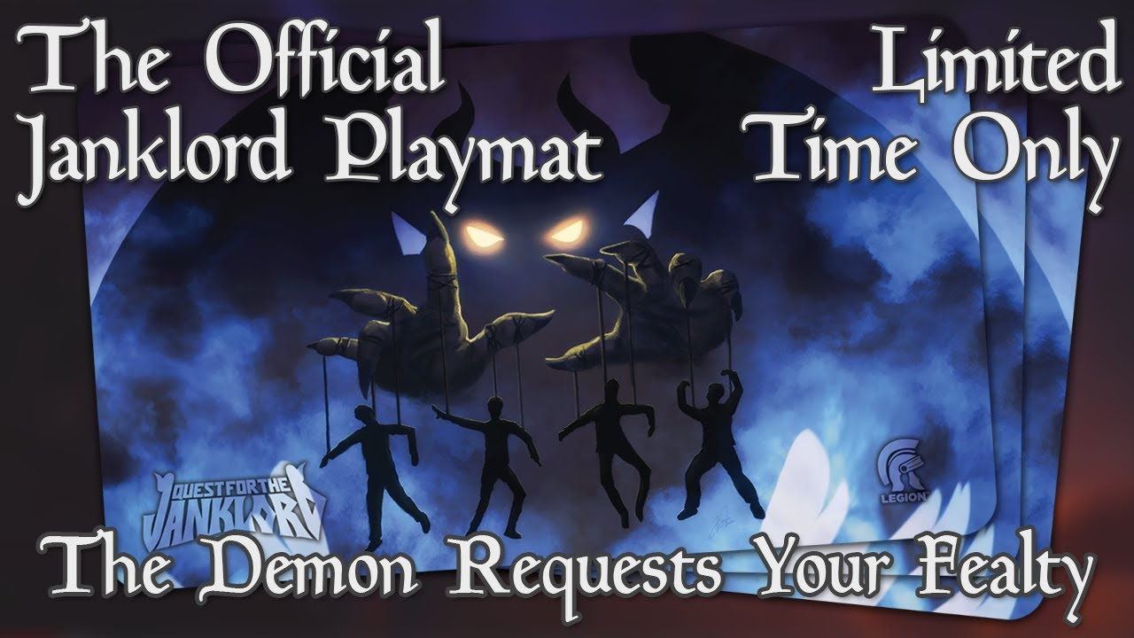 Limited Edition Janklord Playmat Only On Kickstarter Mtg Edh Jank Commander Accessory Youtube