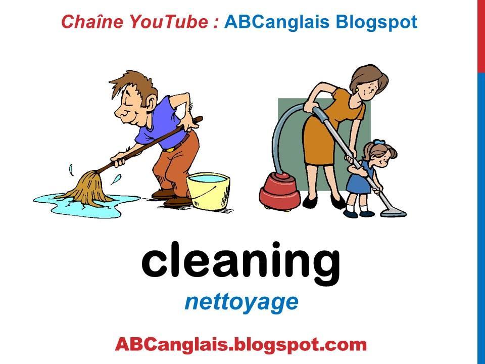 Bien connu Cours d'anglais 49 - Les outils de nettoyage en anglais Les tâches  XB73