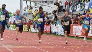 Men's 100m Final A at Liese Prokop Memorial 2019
