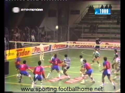 Voleibol :: Sporting - 0 x Lyon - 3 de 1989/1990 - Taça das Taças