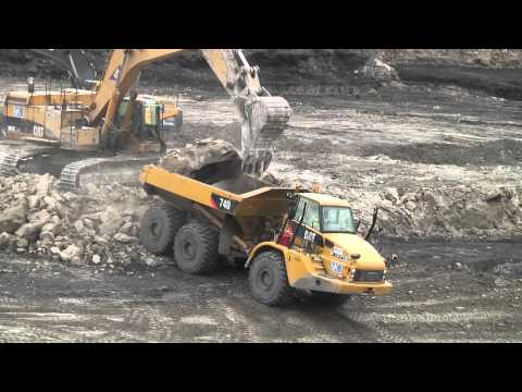 UK Coal mining rental agreement with articulated truck and excavator solution