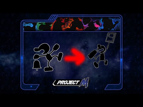 Mr  Game and Watch 3d mod  Project M