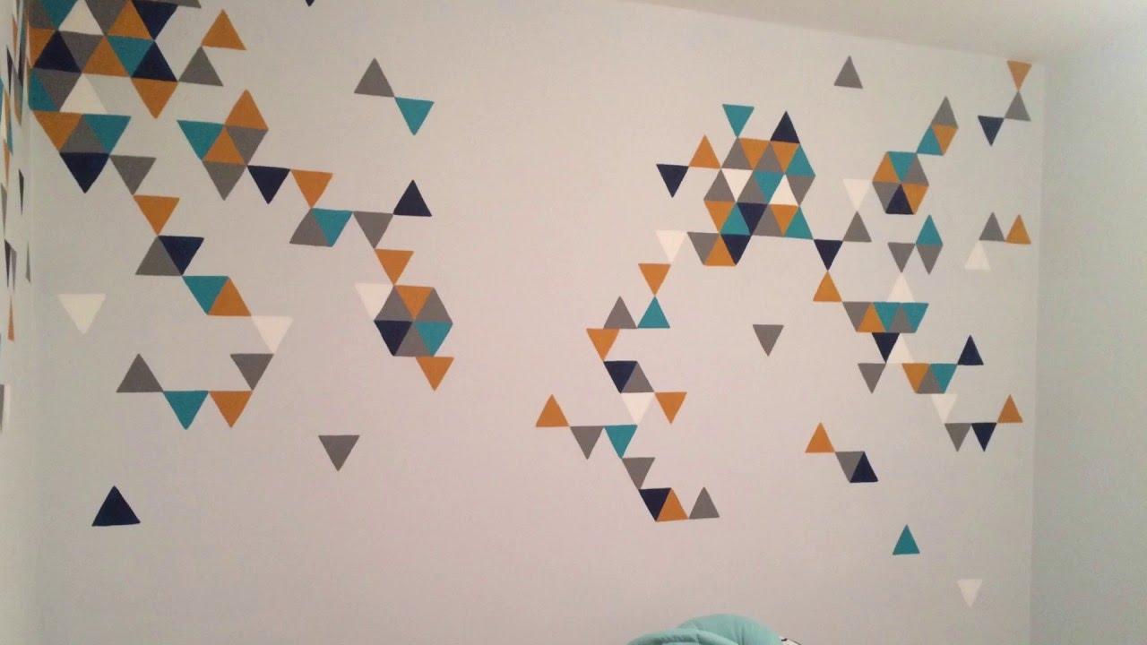 geometric triangle nursery wall mural youtube