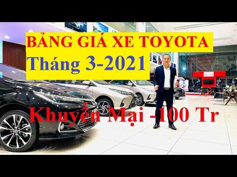 ✅Bảng Giá Xe Toyota Tháng 4/2021 Cập Nhật Khuyến Mại Mới Nhất Xả Kho Gần 100 Triệu,Vios,Camry,Hilux