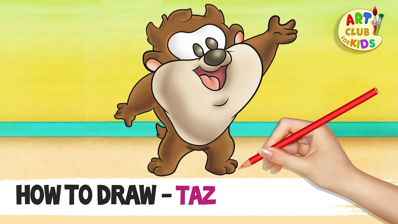 how to draw baby taz