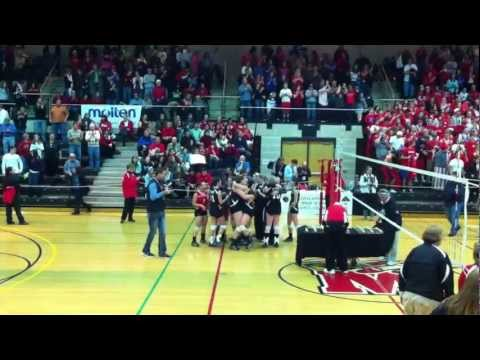 Final Point - North Hagerstown High School wins Maryland State 2012 Volleyball Championship