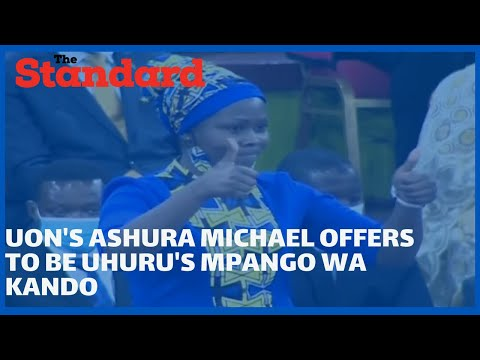UON law student Ashura Michael leaves guests in stitches as she offers to be Uhuru's mpango wa kando