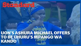 UON law student Ashura Michael leaves guests in stitches as she offers to be Uhuru\'s mpango wa kando
