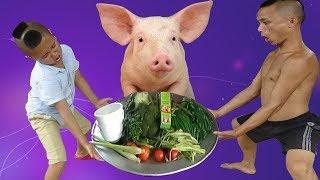 Nồi Rau Lợn Khổng Lồ Chấm Mù Tạt Mắm Tôm - Mao Đệ Đệ Đi Mua Rau Bằng 5k Hài Không Chịu Nổi