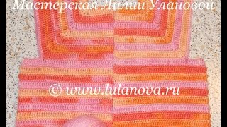 Кофта на реглане - вязание крючком - Crochet jacket with raglan