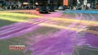 Regenbogen-Kreuzung
