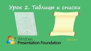 Уроки WPF. Таблицы и списки